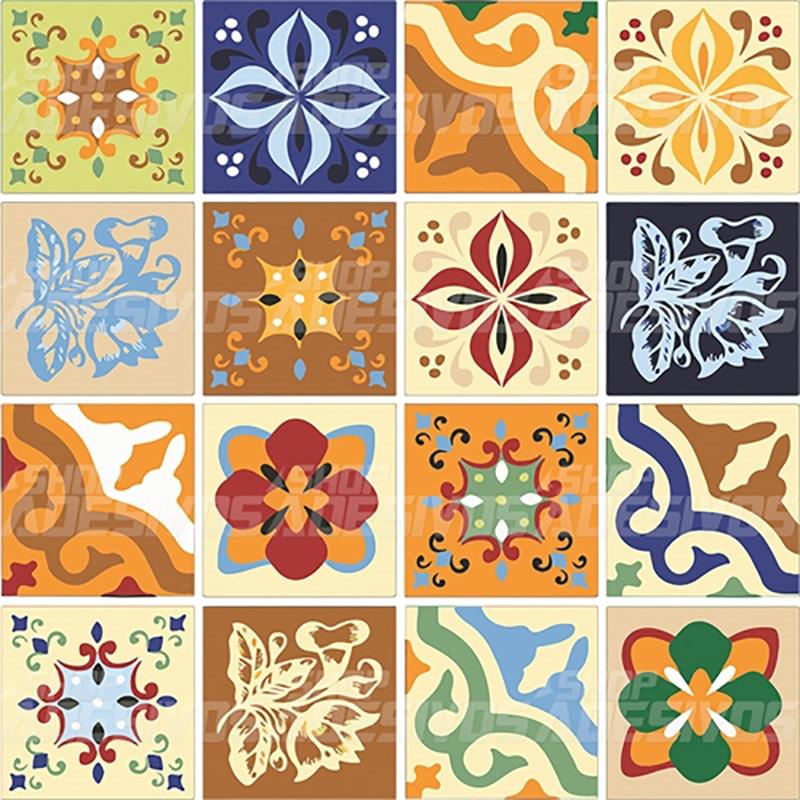 Adesivo decorativo de azulejo de cozinha antigo for Azulejos decorativos