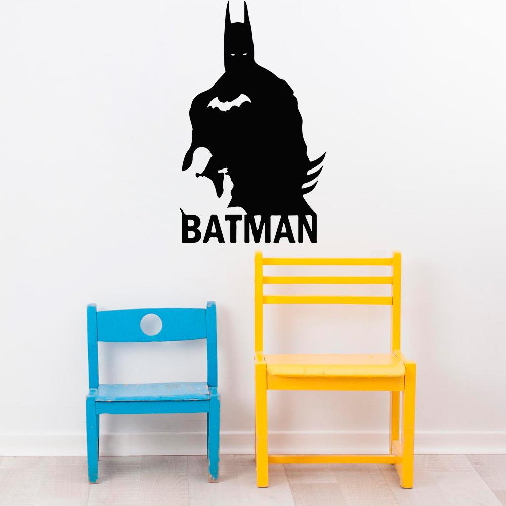 Aparador Para Sala De Estar Com Vidro ~ Adesivo Decorativo de Parede Cinema Batman SHOP ADESIVOS