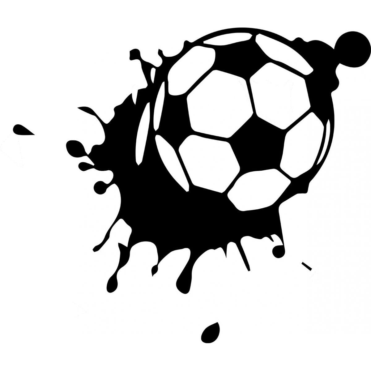 Whal Aparador De Pelos ~ Adesivo Decorativo de Parede Esporte Bola de Futebol SHOP ADESIVOS