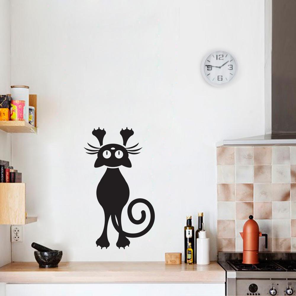Artesanato Facil Rapido E Lucrativo ~ Adesivo Decorativo de Parede Gato 2 SHOP ADESIVOS