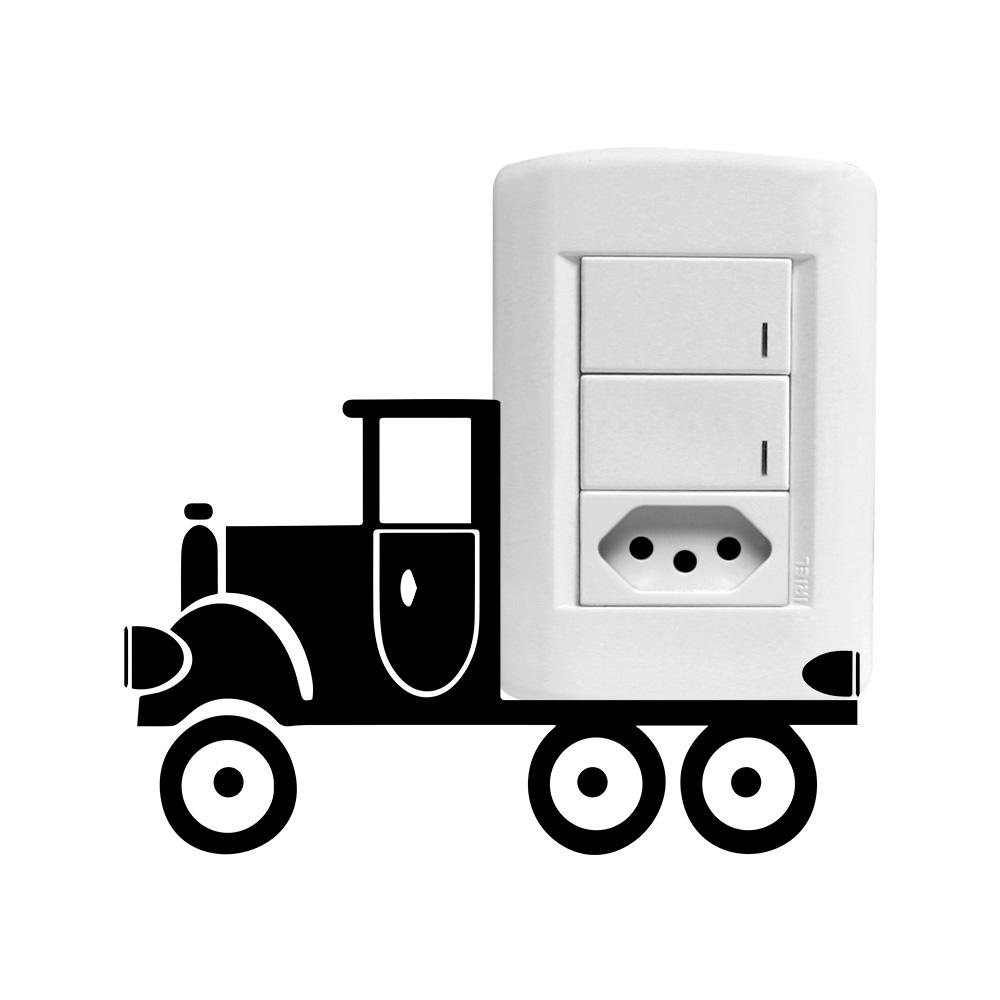 Adesivo Queimador De Gordura ~ Adesivo Decorativo de Parede Interruptor Caminh u00e3o SHOP ADESIVOS