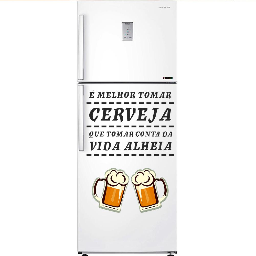 Artesanato Tecido Cozinha ~ Adesivo Decorativo GeladeiraÉ melhor tomar cerveja SHOP ADESIVOS