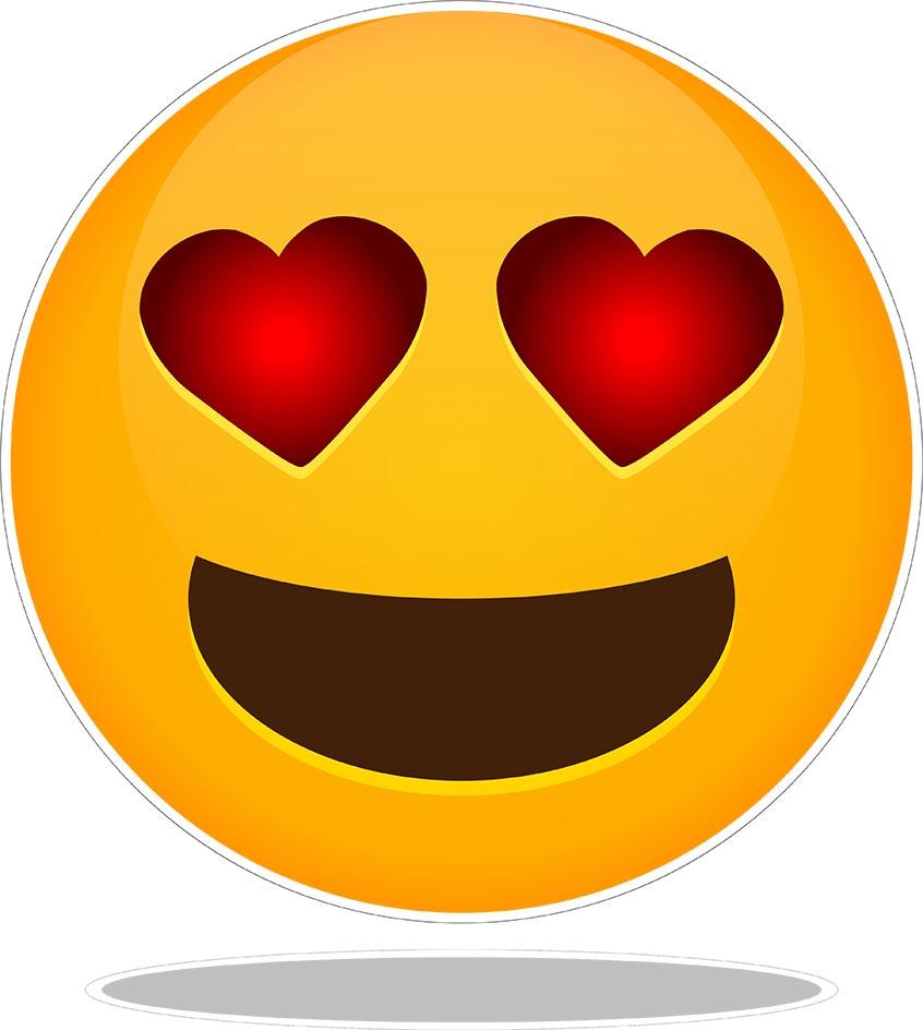 Adesivo Decorativo Geladeira Emoji 2 SHOP ADESIVOS