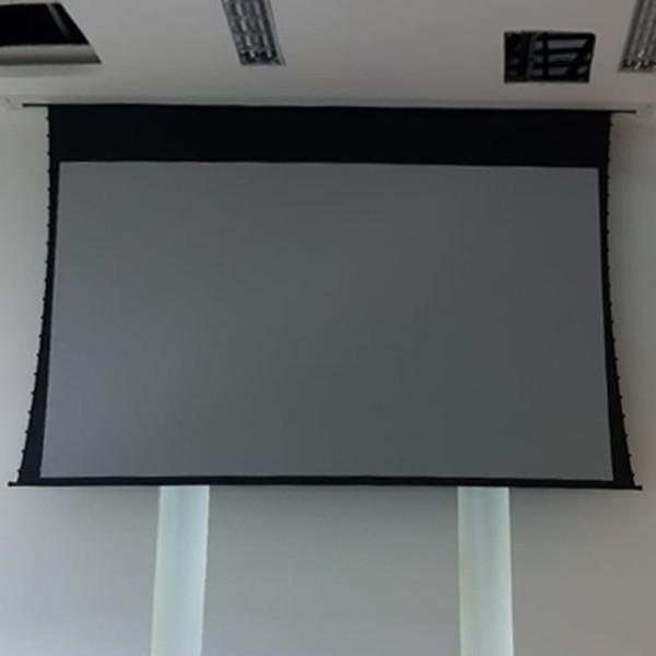 Tela de Projeção Elétrica Tensionada High Contrast 133'' Formato Widescreen 16:9 com Controle Remoto