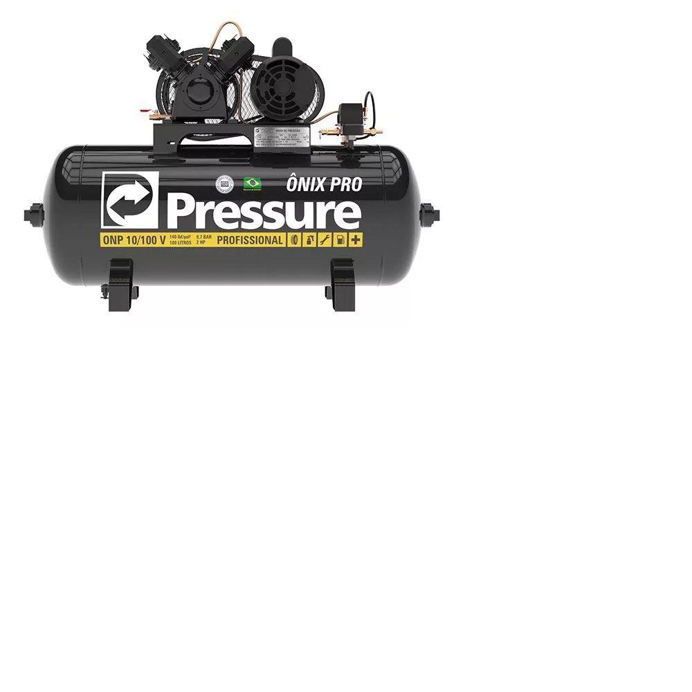 180d9da6d Compressor De Ar 10 Pés 100 Litros Mono 220v Pressure - lojafer