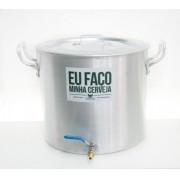 Panela Cervejeira de Alumínio nº 36 com Válvula Extratora 3/8