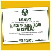 Vale Curso - Degustação e Harmonização de Cervejas Artesanais (presencial ou on-line)