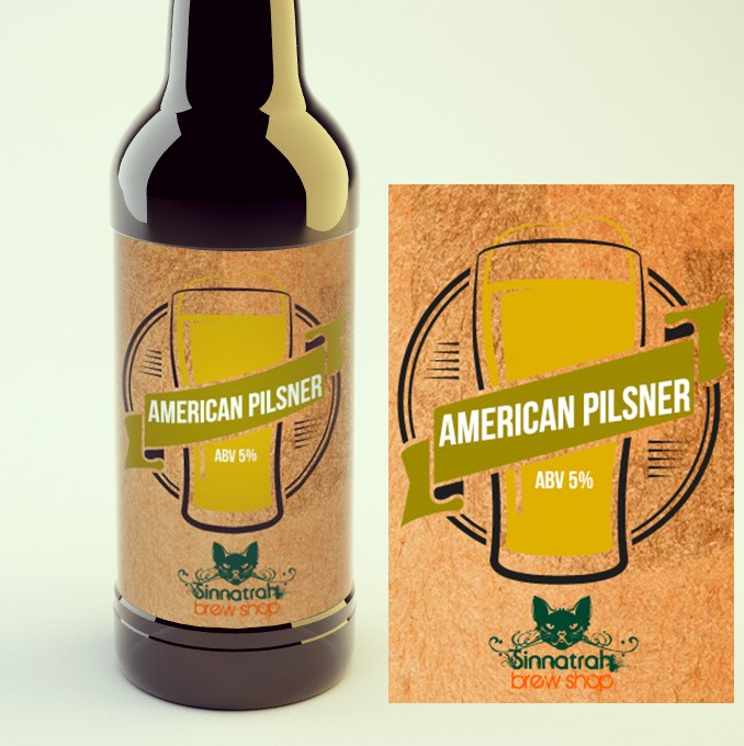 KIT para produção de 20 litros de cerveja do estilo Classic American Pilsner