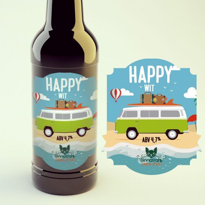 KIT para produção de 20 litros de cerveja Happy Wit