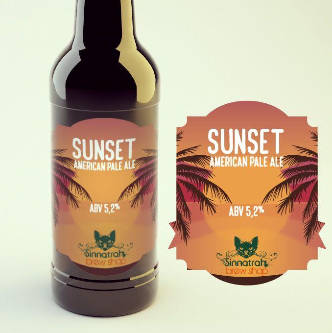 KIT para produção de 20 litros de cerveja Sunset American Pale Ale