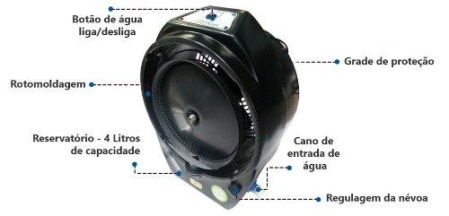 Ventilador Climatizador Umidificador Ecoclean V8 220 Volts Mariz