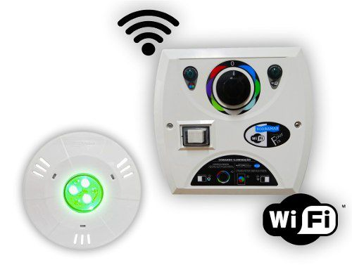 Kit 1 Hiper Led 9w Abs + Comando Four Fix Wifi Sodramar