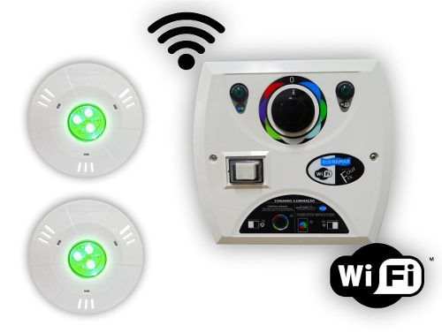 Kit 2 Hiper Led 9w Abs + Comando Four Fix Wifi Sodramar