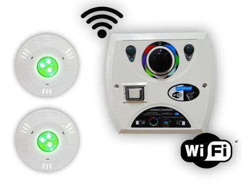 Kit 2 Hiper Led 9w Abs + Comando Four Fix Wifi Sodramar