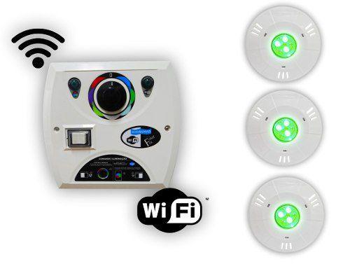 Kit 3 Hiper Led 9w Abs + Comando Four Fix Wifi Sodramar