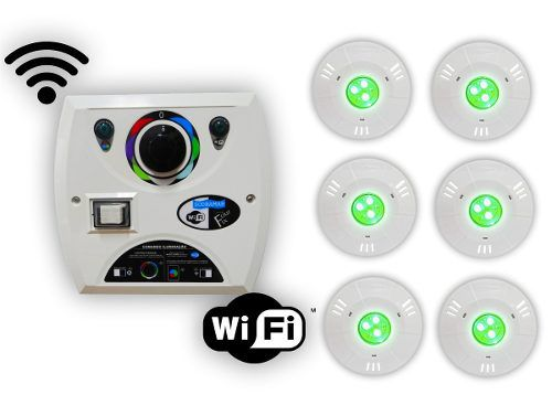 Kit 6 Hiper Led 9w Abs + Comando Four Fix Wifi Sodramar