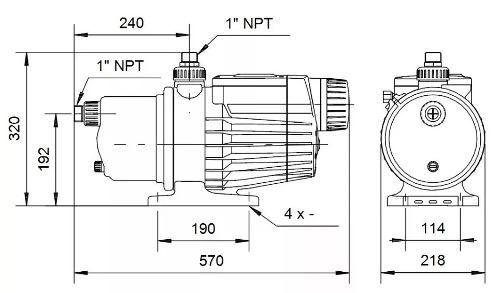 Bomba Pressurizadora Autoescorvante Grudfos Mq3-45 B 220v
