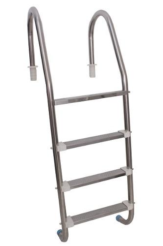 Escada Para Piscina Em Aço Inox Com 4 Degraus Inox Removivel