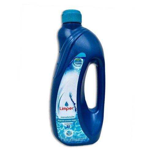 Algicida Manutenção Para Piscina Limper 1 Litro
