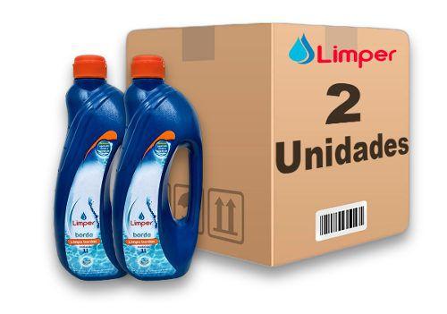 Algicida Limpa Borda Para Piscina Limper 1 Litro 2 Unidades