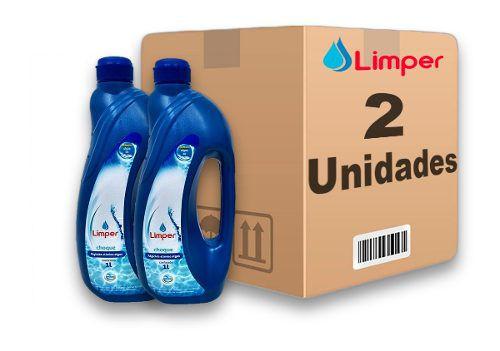Algicida Choque Para Piscina Limper 1 Litro 2 Unidades