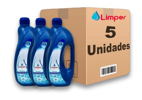 Algicida Choque Para Piscina Limper 1 Litro 5 Unidades