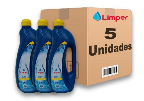 Algicida Floc Para Piscina Limper 1 Litro 5 Unidades