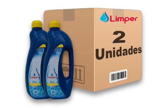 Algicida Floc Para Piscina Limper 1 Litro 2 Unidades