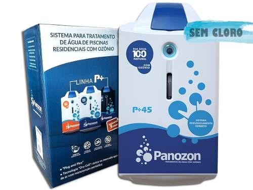 Tratamento De Água Com Ozônio Para Piscina P+45 Panozon 45 Mil Litros + Dosador de Cloro