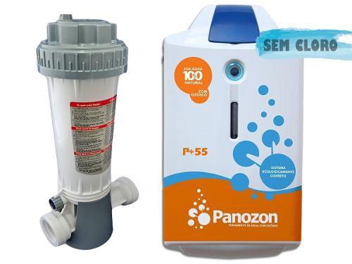 Tratamento De Água Com Ozônio Para Piscina P+55 Panozon 55 Mil Litros + Dosador de Cloro