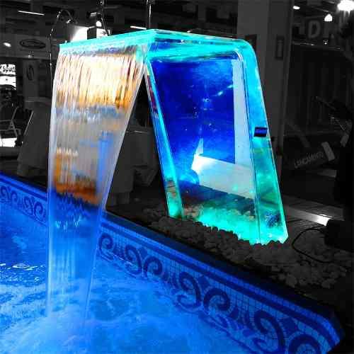 Cascata De Acrílico Paradise Para Piscina Com Iluminação RGB - Sodramar