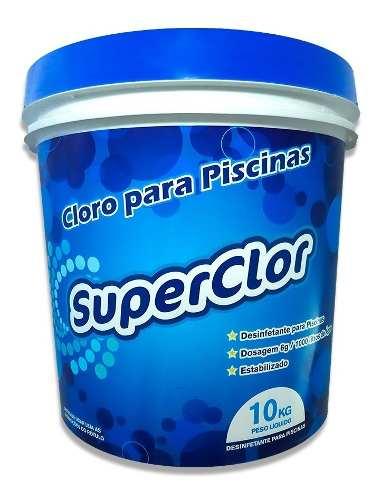 Cloro Superclor Para Limpeza De Piscina Balde 10 Kg