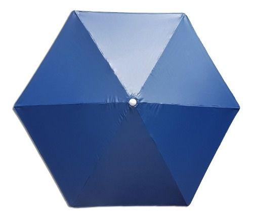 Guarda Sol Para Piscinas E Jardim Sodramar Ombrelone 2,70m Azul