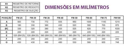 Kit Filtro Para Piscina Fm 50 + Bomba Bm 75 Motor Weg 3/4 Cv Sodramar