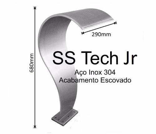 Cascata Naja Para Piscinas SS Tech Em Aço Inox Boca De 29cm