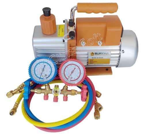 Kit Refrigeração Bomba De Vácuo 6 Cfm + Manifold Vulcan para R-22/ R-1234a/ R-12/ R-404 VLCT-636G