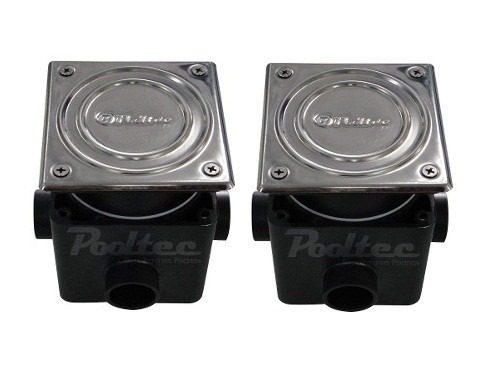 Kit Refletor Piscina 2 Led 25 Rgb + Comando + Caixa Passagem