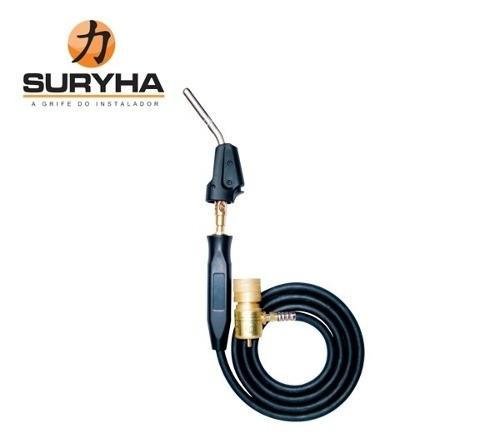 Maçarico Portátil Automático Mangueira 1,5m Suryha + 1 Refil Master Mix Suryha