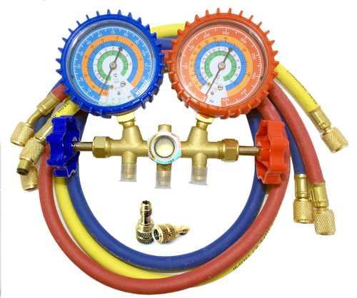 Manifold Para Refrigeração e Ar Condicionado Split Inverter R-22/ R-12/ R-134a/ R-404a e R-410a
