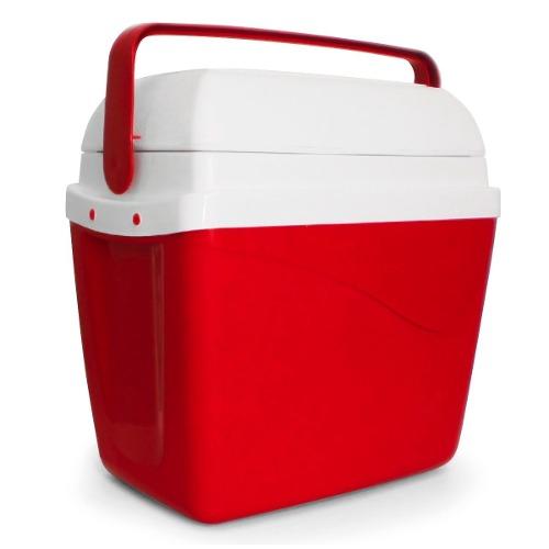 Caixa Térmica Cooler Vermelha 32 Litros Com Alça