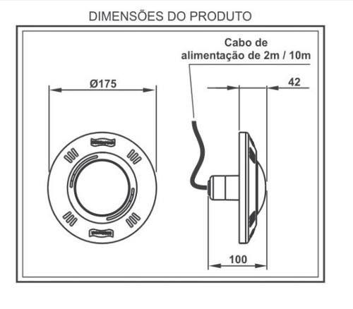 Kit Iluminação Para Piscina 3 Refletor Led Smd 9 Watts Sodramar + Comando com Controle Touch
