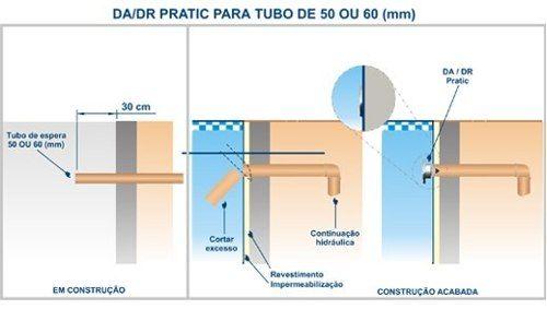 Kit 1 Dispositivo Aspiração 2 Disp. Retorno Pratic Inox 1 Dreno Fundo 15x15x2'' Sodramar
