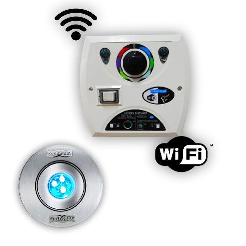 Kit 1 Hiper Led 9w Inox + Comando Four Fix Wifi Sodramar