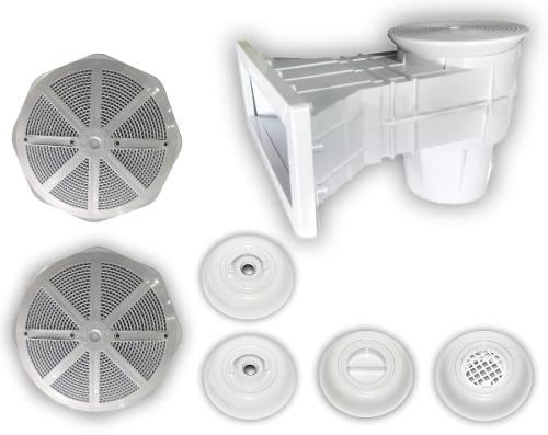 Kit Dispositivos Piscina 1 Aspiração 2 Retorno Dreno Skimmer