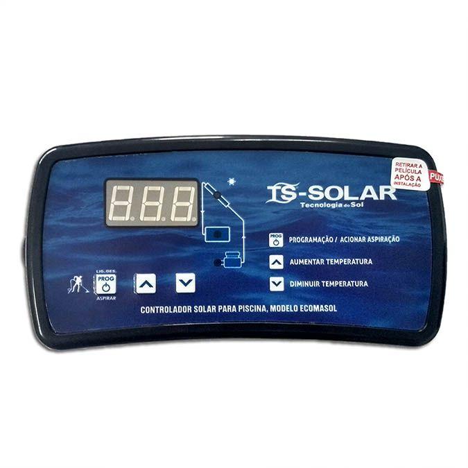 Aquecedor Solar Para Piscinas Ate 32m³ 8 Placas G1 Girassol + Controlador de Temperatura
