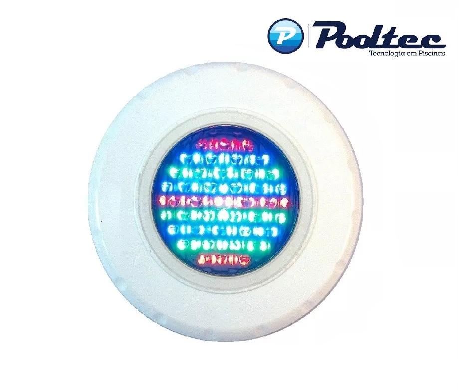 Kit Iluminação para Piscina 5 Led 65 ABS RGB Colorido + Comando e Controle Remoto - Até 45 m²