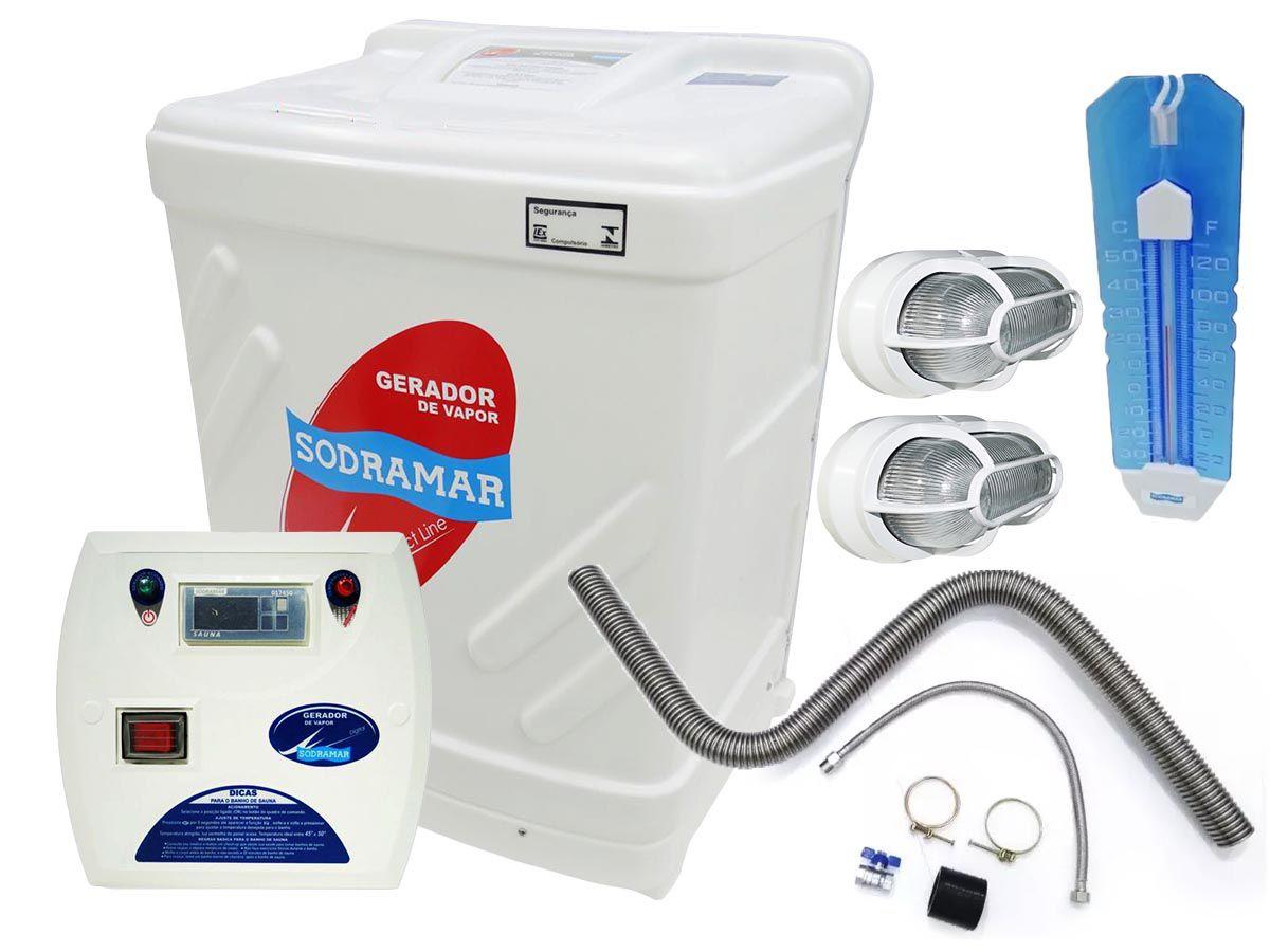 PROPOSTA N 388 Gerador Vapor Sauna Sodramar 18 Kw + Quadro + Kit Instalação