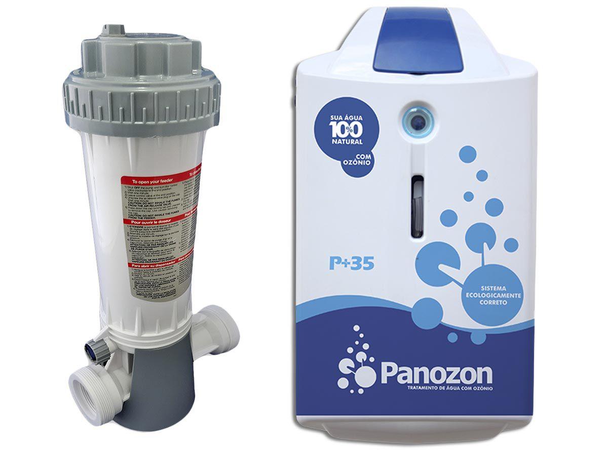 Tratamento De Água Com Ozônio Para Piscina P+35 Panozon 35 Mil Litros + Dosador de Cloro