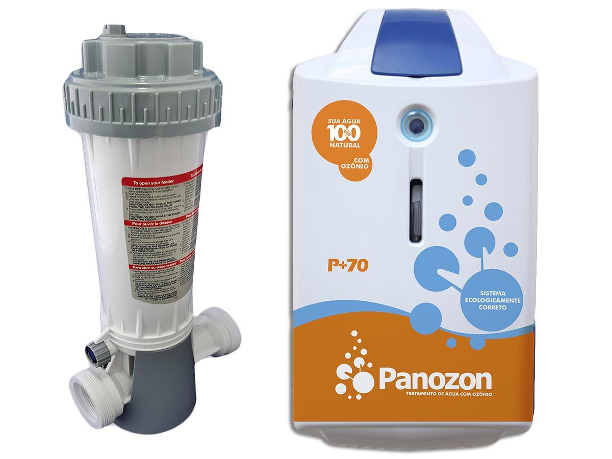 Tratamento De Água Com Ozônio Para Piscina P+70 Panozon 70 Mil Litros + Dosador de Cloro