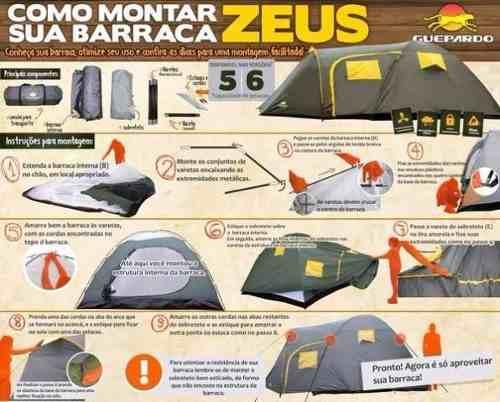 Barraca Zeus 6 Pessoas Guepardo